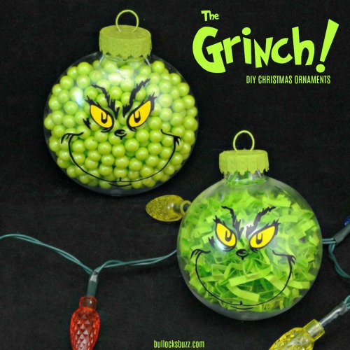 DIY grinch ornaments holiday craft ideas