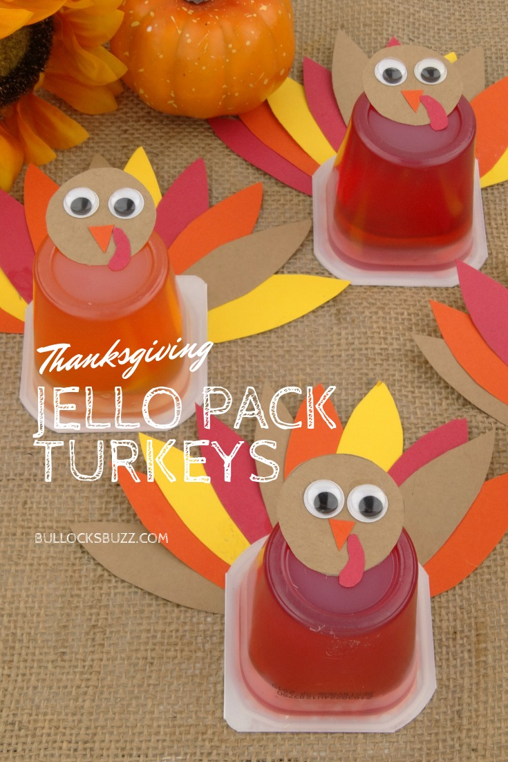 TheseJello Pack Thanksgiving Turkey Treats are so easy and cute, they'll be gobbled up in no time at all!