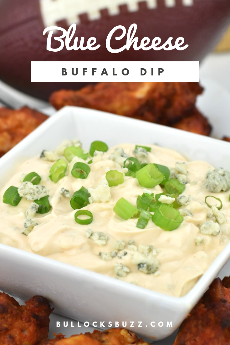 This simple Blue Cheese Buffalo Dip has a zippy flavor that pairs perfectly with spicy hot wings. Ready in less than five minutes, this delicious dip recipe is a great addition to any easy game day snacks menu!