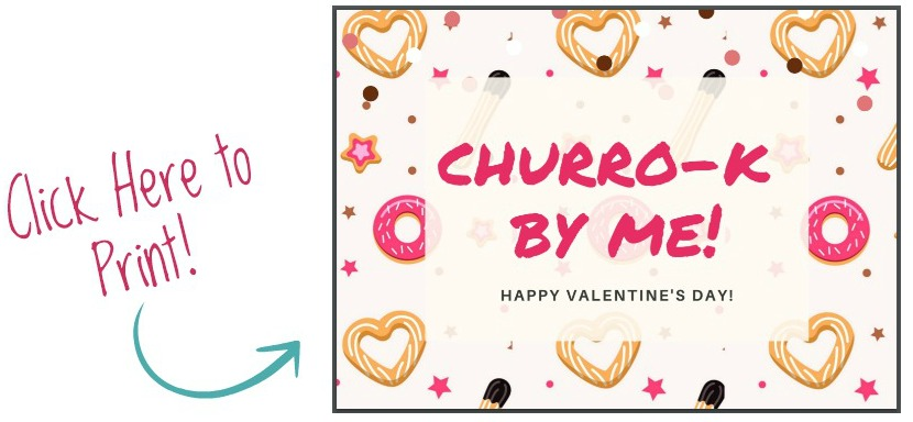 Churros Valentines Printable image