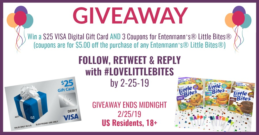 Entenmann's® Little Bites® 20th Birthday Bash Sweepstakes blog giveaway image