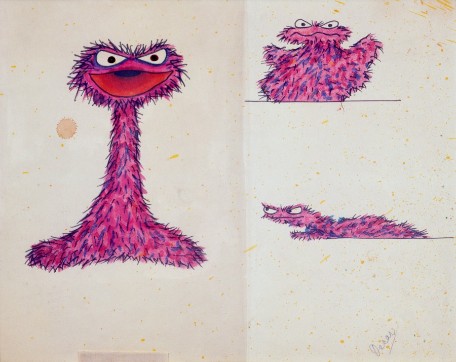 The Jim Henson Exhibition Imagination Unlimited Early Oscar Sketch
