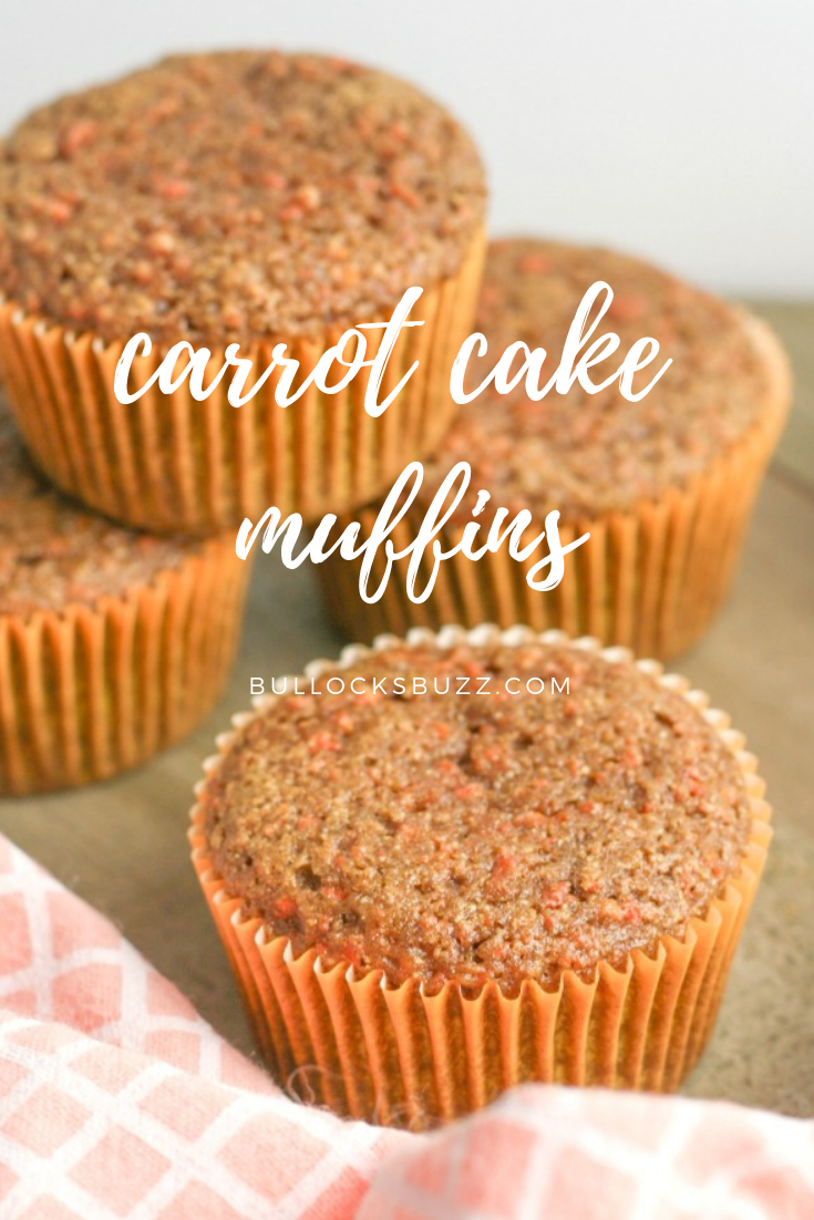Made with fresh carrots and whole wheat flour along with a dash of cinnamon and brown sugar for the perfect amount of sweetness and spice, these moist muffins are not only delicious, they're easy to make, too! #recipes #muffins
