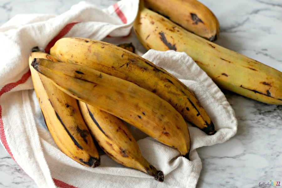 Sweet Fried Plantains use ripe plantains