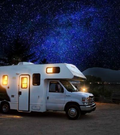 RV camping under the stars