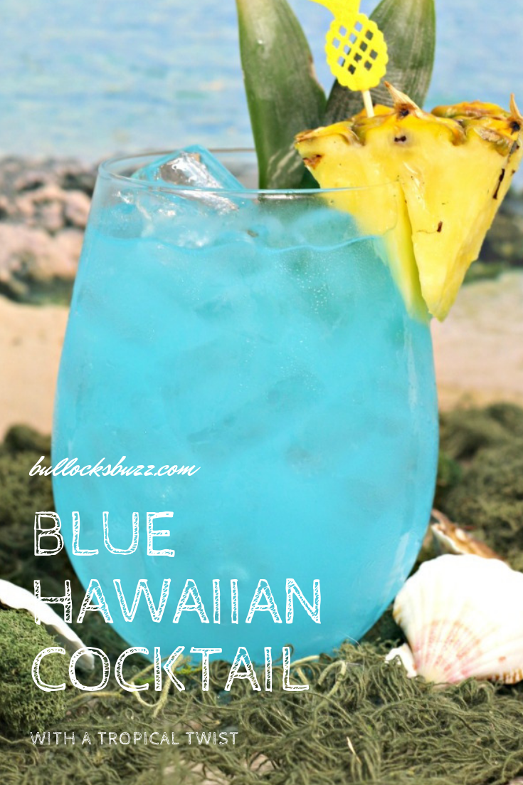 A tropical twist on the classic summer drink, this Blue Hawaiian cocktail recipe takes this beautiful blue drink to a whole new fruity level!