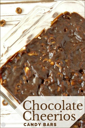 chocolate cheerios candy bars recipe