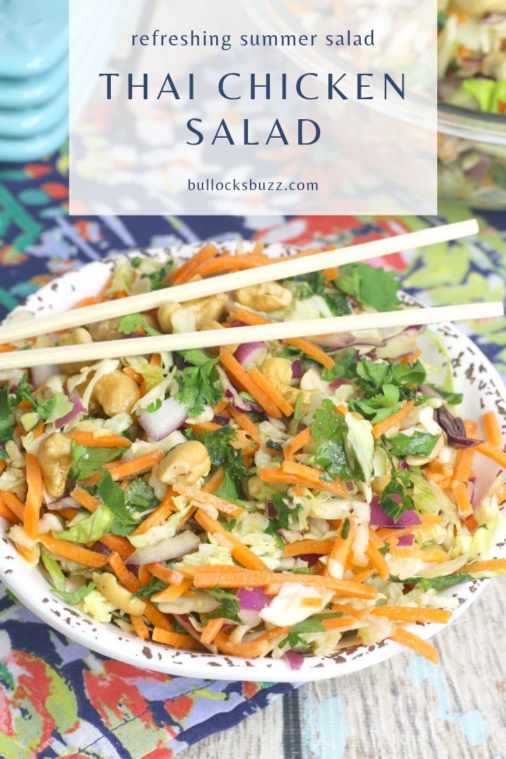 thai chicken salad in bowl