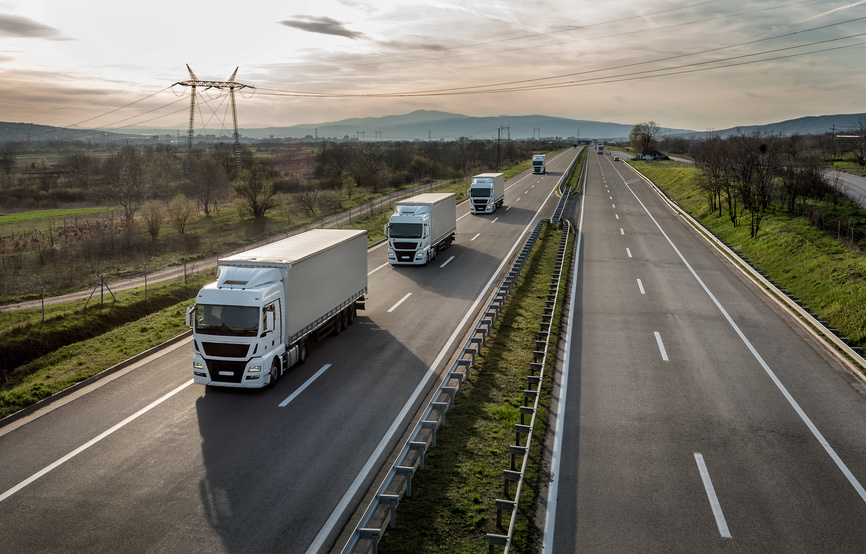 Trucks on highways for companies such as Target's Same-Day Delivery Service