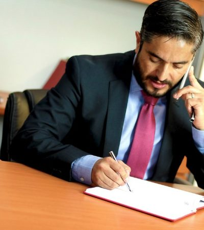 lawyer working at desk