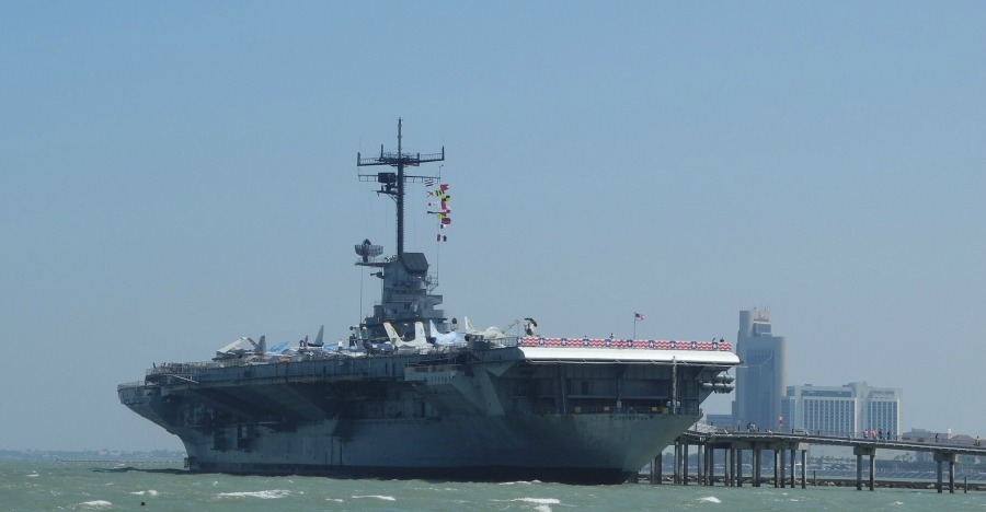 best day trips from San Antonio USS Lexington docked in Corpus Christi