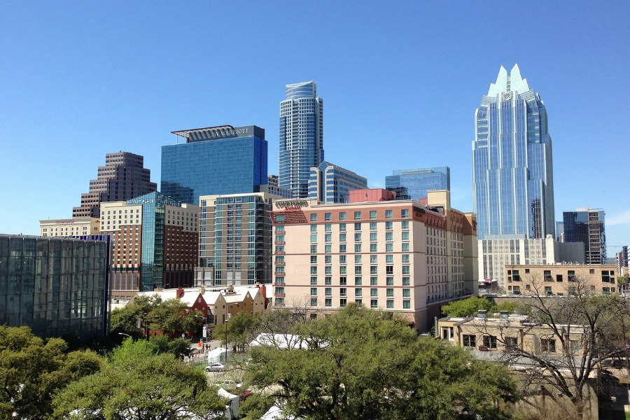 View of Austin Texas skyline