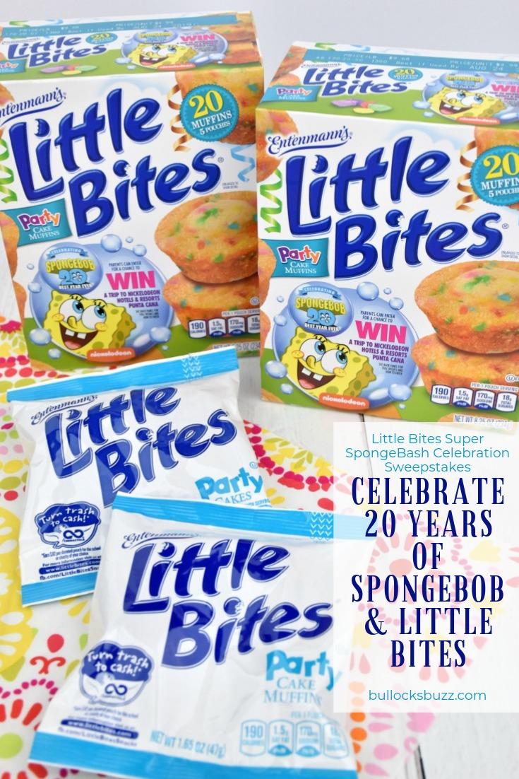 Celebrate 20 years of SpongeBob with the Little Bites Super SpongeBash Celebration Sweepstakes