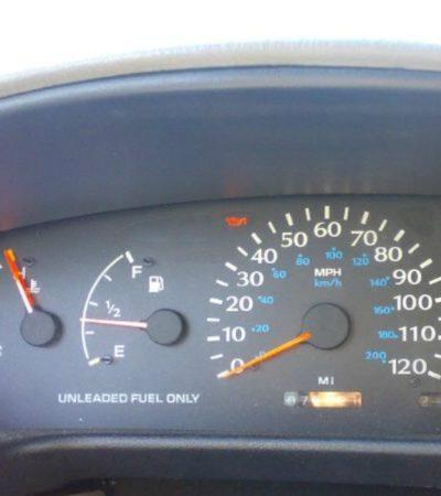 car temperature gauge on hot