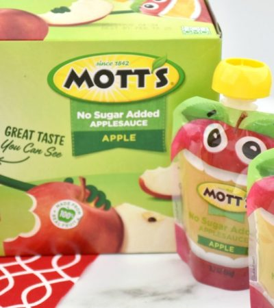 new mott's clear pouches of applesauce
