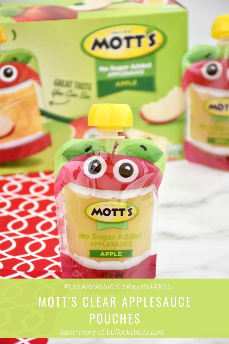 new Mott's clear applesauce pouches
