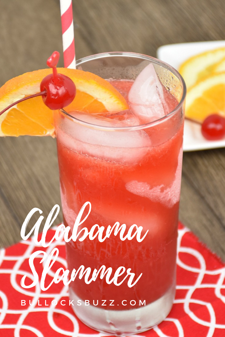 Strong cherry notes from amaretto and sloe gin are tempered by the mellow spice of Southern Comfort and the subtle tartness of orange juice, in this sweet and tangy cocktail, the Alabama Slammer. This Alabama Slammer recipe can be made as a cocktail, shot, or party punch, and it's sure to become a favorite! #cocktails #cocktailrecipe