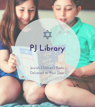 kids reading Jewish children's book from PJ Library