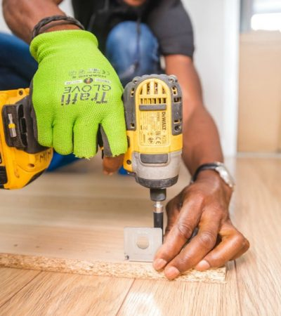 installing flooring as home repair projects