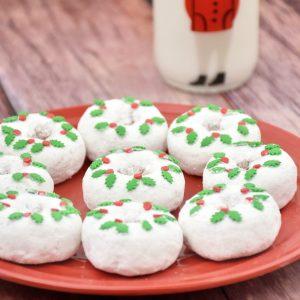 Christmas Wreath Donuts holiday treat recipe