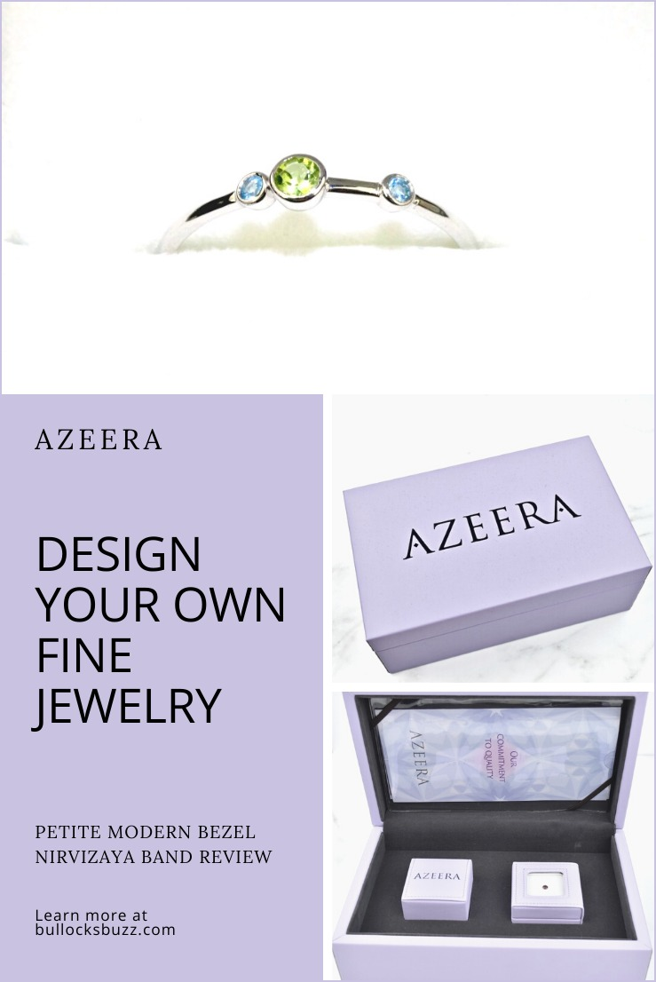 Why buy a standard piece of jewelry that hundreds if not thousands of others have when you can customize your own in just minutes from the comfort of your own home? AZEERA makes designing your own ring quick, easy, and affordable!  Learn more with my AZEERA review on the blog.