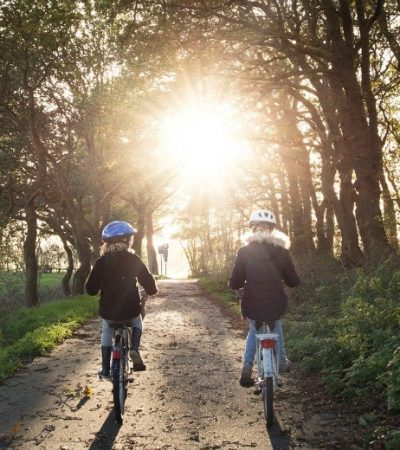 biking in the woods as an environmental benefits of biking