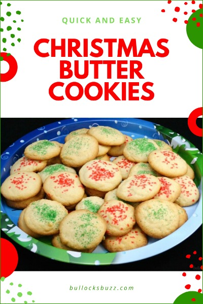 holiday cookie recipe Christmas Butter Cookies