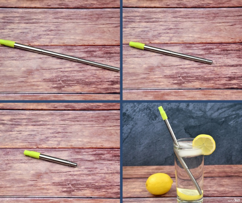 reusable straw telescopes to different lengths