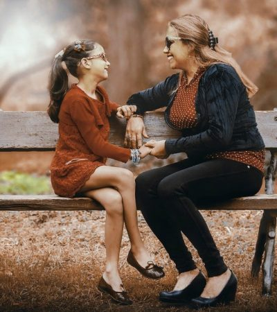 mother and daughter talking can help build a heaalthy relationship with your child