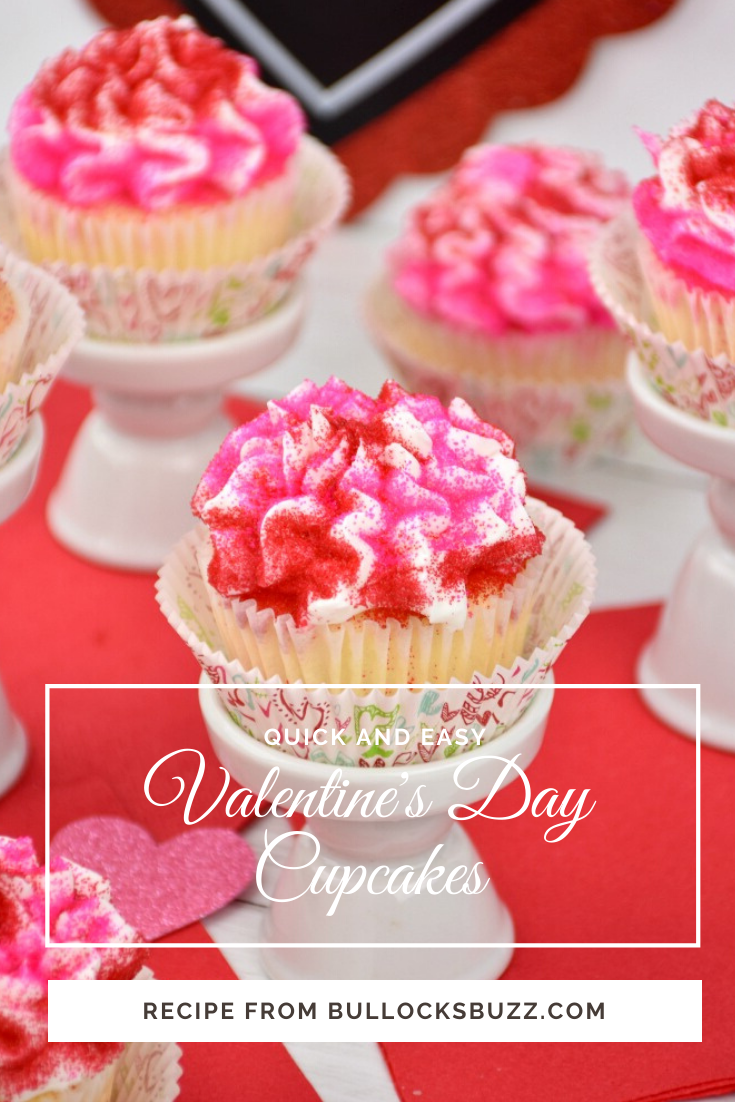 These easy vanilla cupcakes are a deliciously sweet way to spread the love this Valentine's Day. Each moist and tender cupcake is topped with a light, fluffy cloud of vanilla buttercream frosting, then crowned with a dusting of vibrantly colored sprinkles.