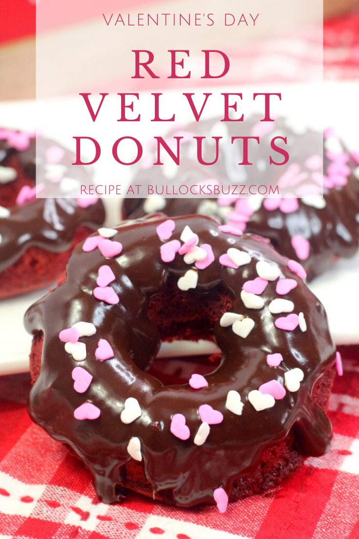 These soft and moist Red Velvet Donuts are topped with a scrumptious chocolate ganache glaze that makes them absolutely delicious! Plus the vibrant red color and delectable chocolate flavor make these baked red velvet donuts the perfect Valentine's Day treat for your special someone!