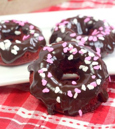 red velvet donuts on plates