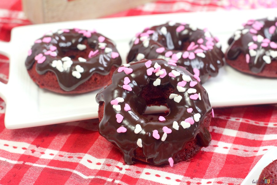 red velvet donuts on plate