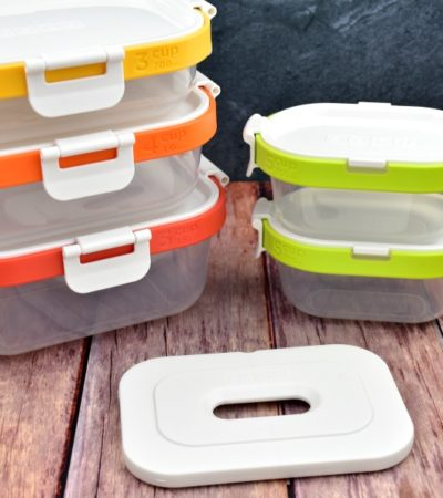 Zoku Neat Stack nesting storage containers with freezer pack