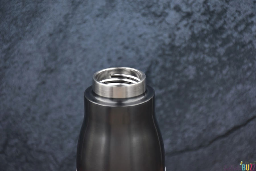 Zoku recessed threads on mouthpiece and lid
