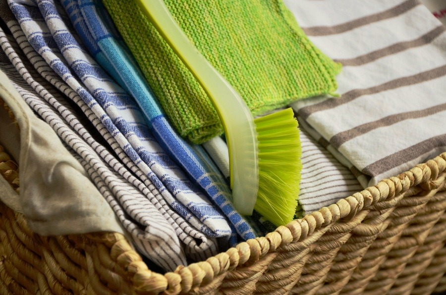 basket of tea towels best tea towel customization companies