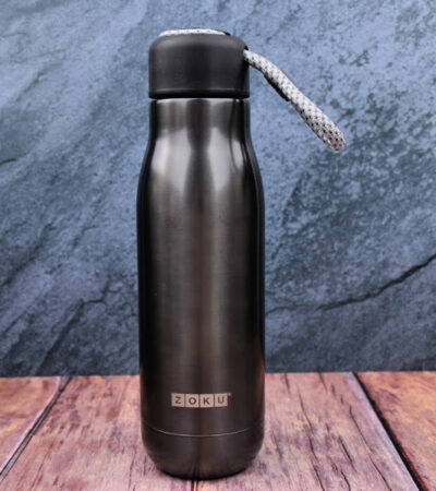 Zoku water bottle in gunmetal gray