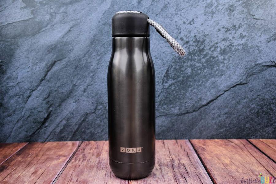 Zoku water bottle in gunmetal gray