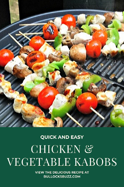 easy grilled chicken and vegetable kabobs recipe