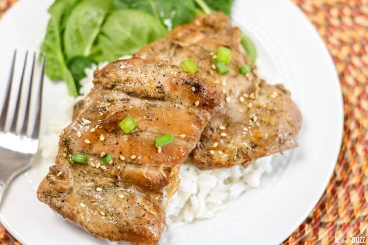 grilled sesame chicken thighs dinner recipe idea