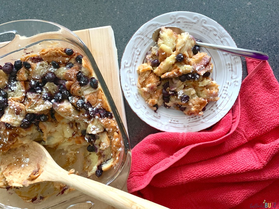 blueberry croissant bread pudding easy recipe