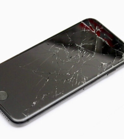 cracked screen on smartphone
