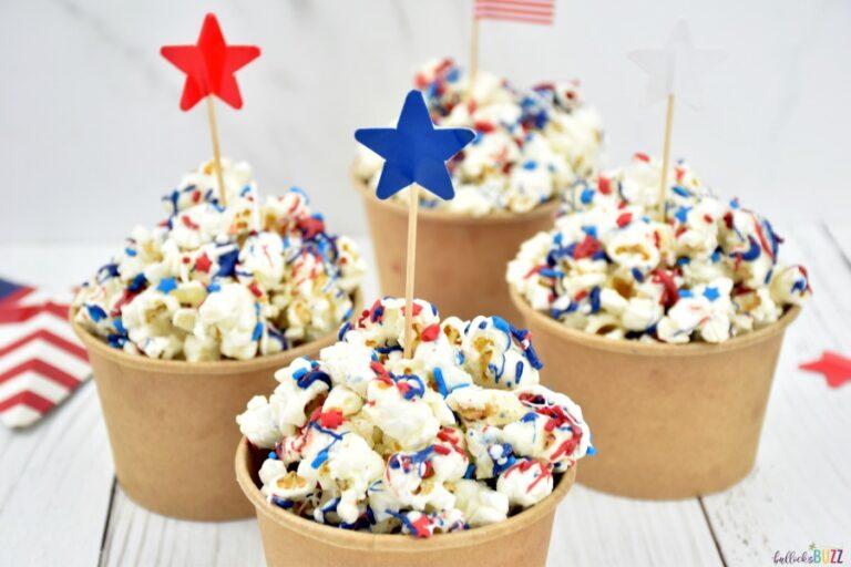 Patriotic Popcorn – Red, White, and Blue Popcorn Recipe