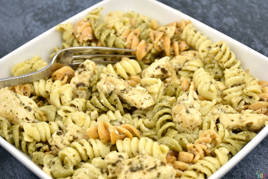 close up of pasta dinner