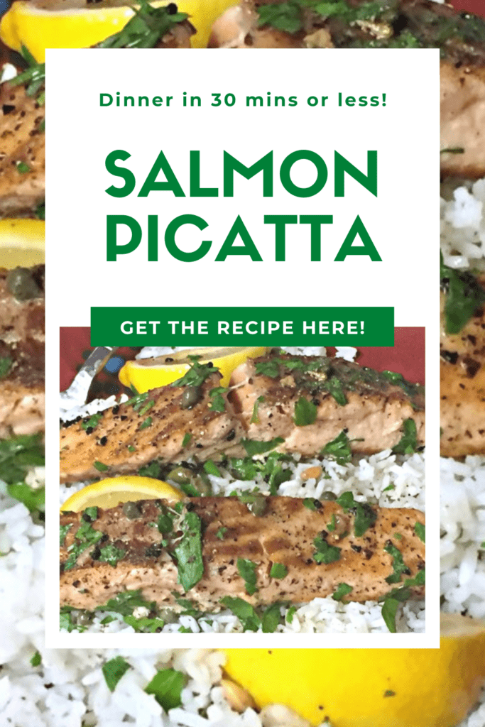 A delicious and easy Salmon Picatta recipe that your entire family will love. Ready in 30 mins or less! Plus, it's gluten free!