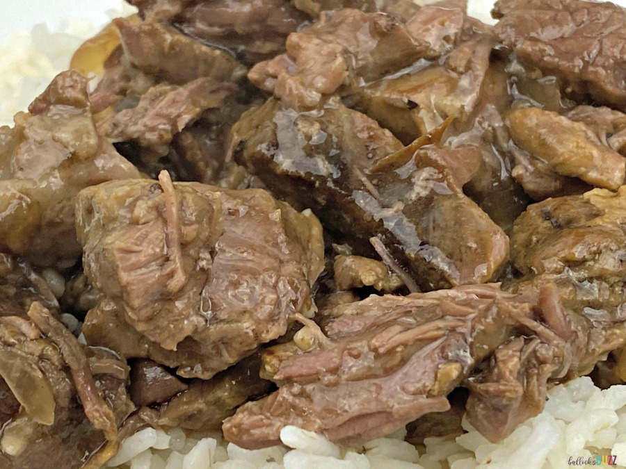 slow cooker beef tips and rice recipe
