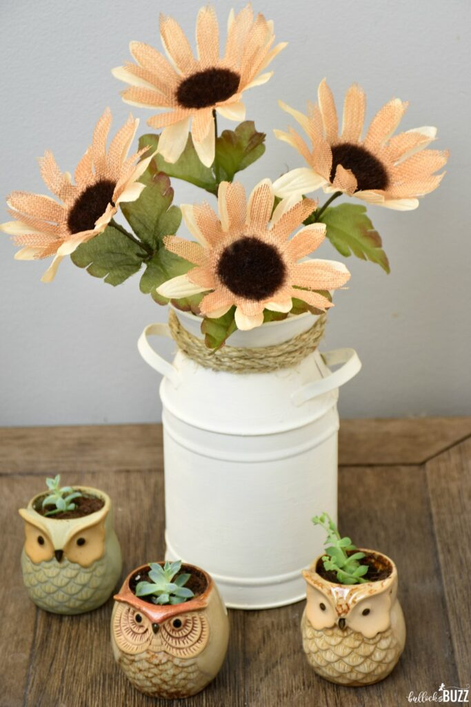 Bring rustic charm to your table with this beautiful DIY Milk Can Vase Centerpiece!