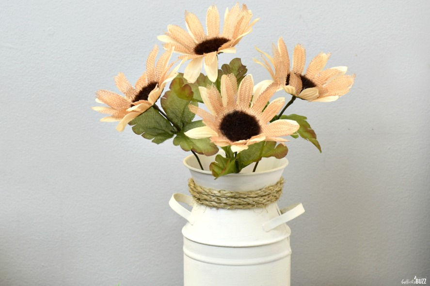 DIY Farmhouse Decor Milk Can Vase