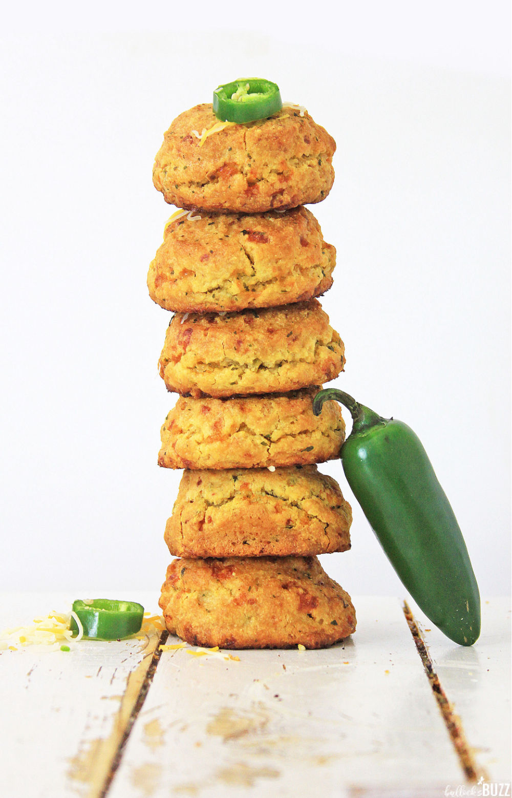 These savory Jalapeño Cheddar Cornbread Muffins are delicious as an appetizer, a snack, or as a side.
