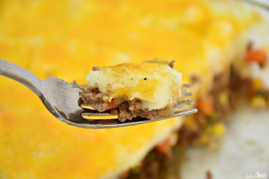 shepherd's pie on a fork
